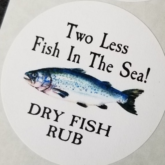 "Two Less Fish in the Sea 2"" STICKER non personalized"