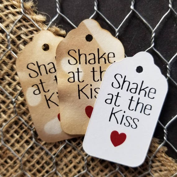 """Shake at the Kiss SMALL 2"""" Favor Tag NON-personalized"""