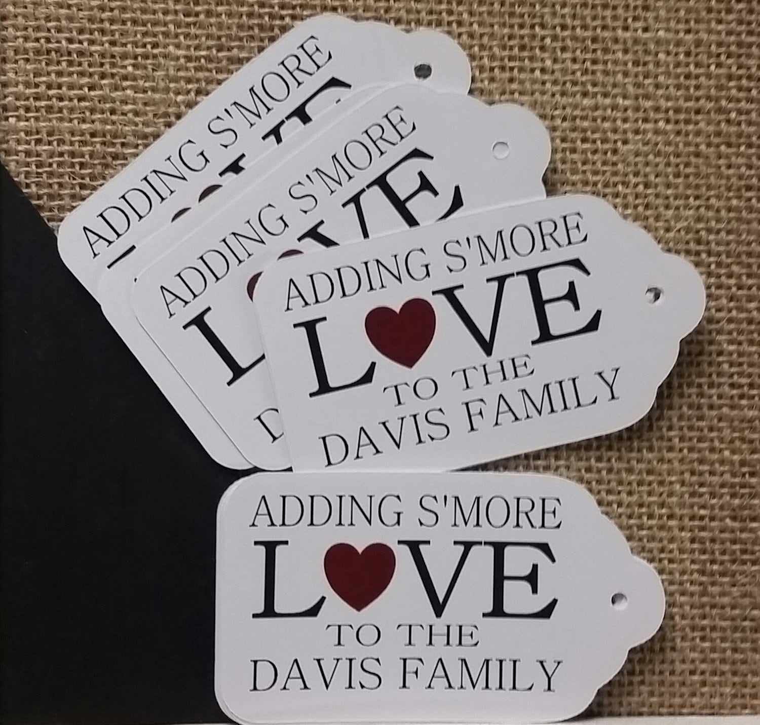 Adding Smore Love to Family MEDIUM Personalized Wedding Favor Tag ...