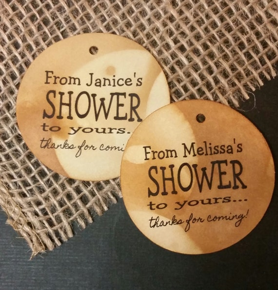 From My Shower to Yours Personalized Shower Favor MEDIUM tag choose your amount