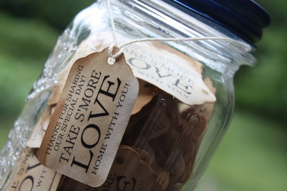 "Take S'More With You 100 SMALL 2"" Favor Tag"