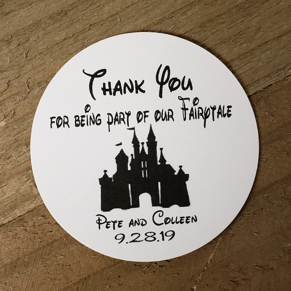 """Thank You for Being Part of our Fairytale 2"""" STICKER Personalized Wedding Shower Favor STICKER Fairy Tale"""