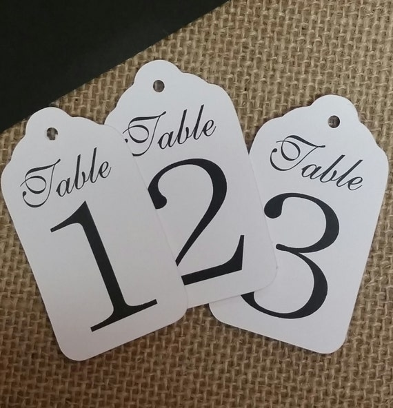 "Medium Table Number Tags Seat Placement Cards 1 3/8"" x 2 1/2"""