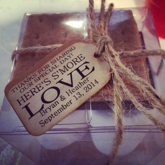 """Smore Love Choose your quantity SMALL 2"""" Favor Tag"""