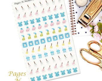 Cleaning Planner Stickers/ Erin Condren/ Plum Paper/ Recollections Planners/ Functional Stickers  #009
