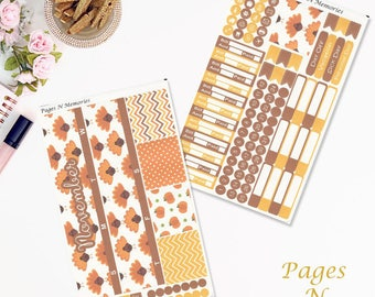 November Monthly Planner Sticker Kit for Erin Condren Life Planners/ Functional Stickers/ Monthly Sticker Set