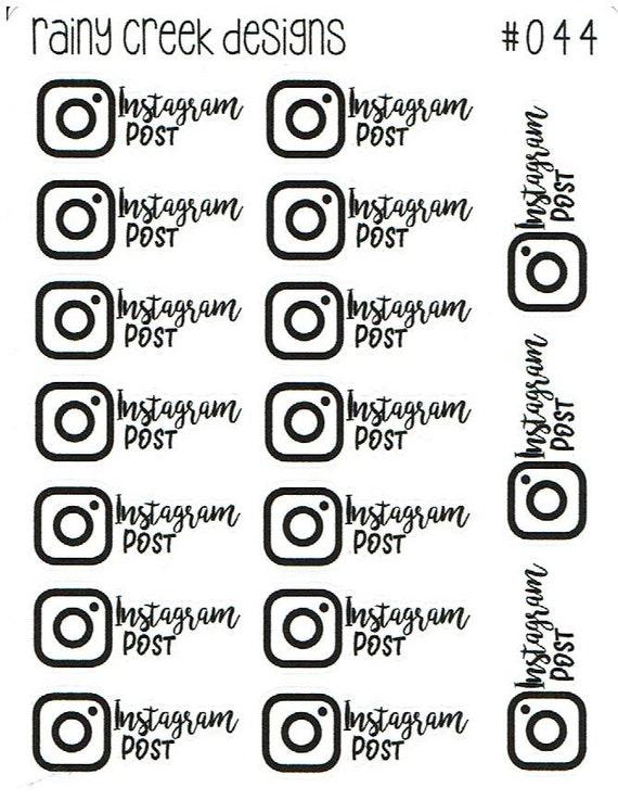 Instagram Post Planner Stickers #044