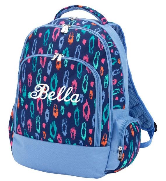 Monogrammed Backpack Leopard Cheetah Personalized School  db4796534984f
