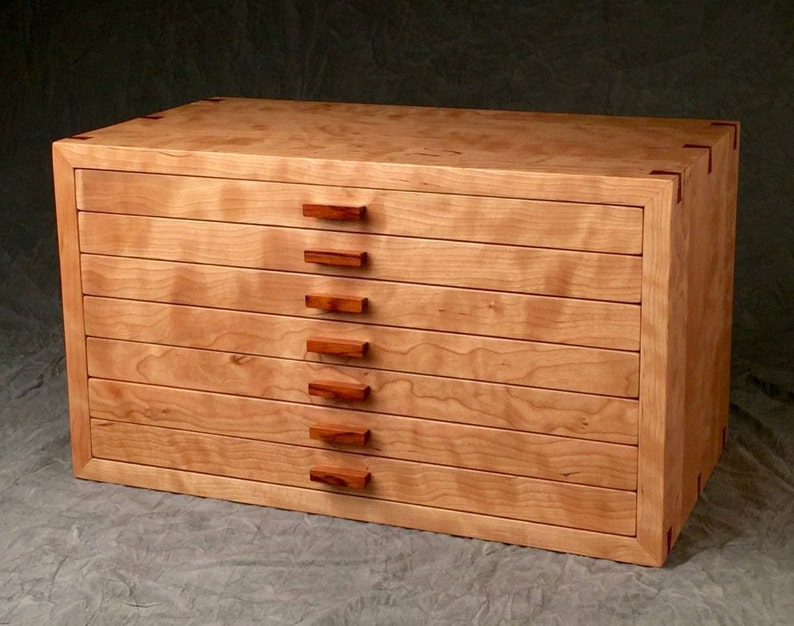 Large Jewelry Box Curly Cherry & Rosewood image 0