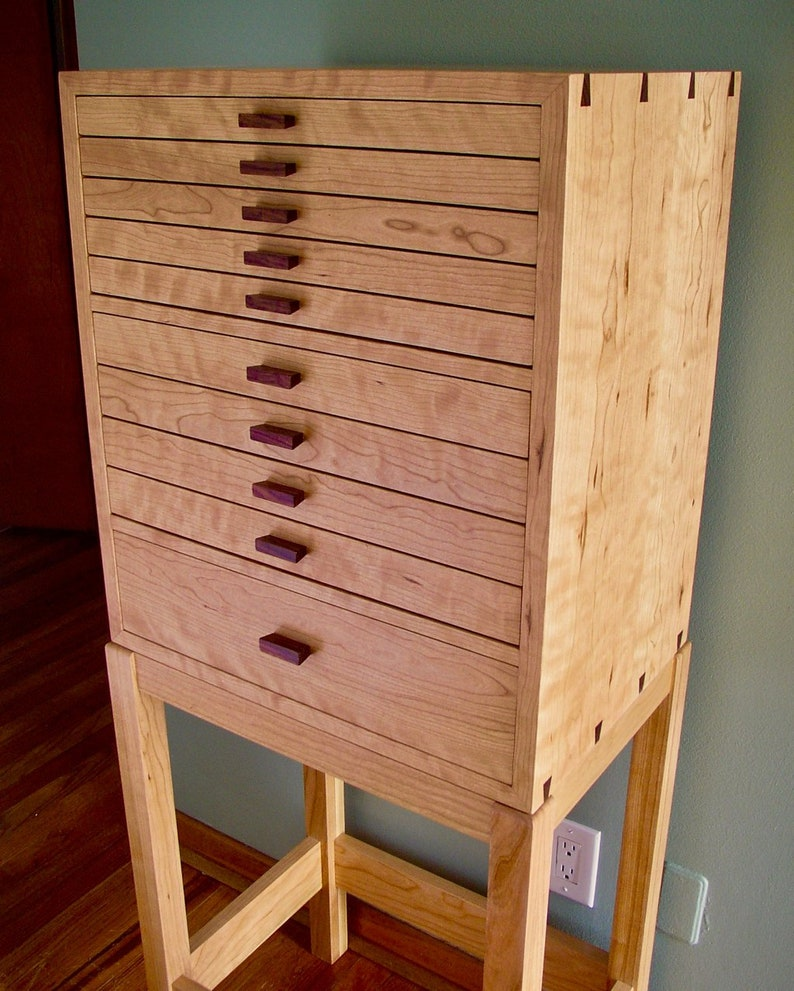 Coco's Cabinet Jewelry Armoire Curly Cherry & Rosewood image 0