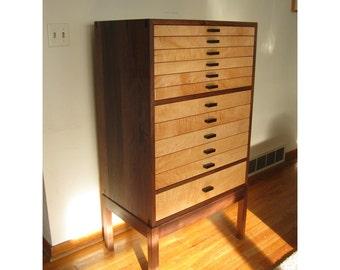 Jewelry & Lingerie Armoire--Walnut, Curly Maple, Wenge