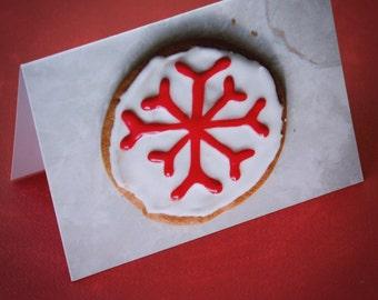 Snowflake Cookie Christmas Cards