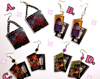 VHS Horror Classic Earrings Series 1