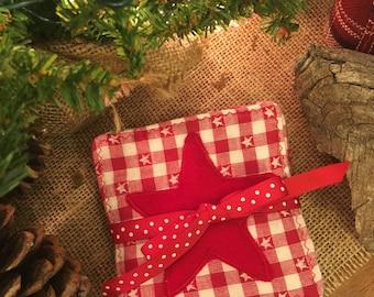 Christmas Fabric Coasters
