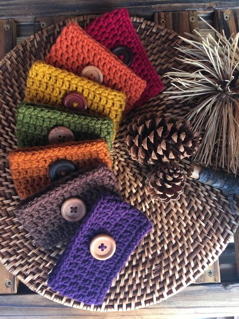 Fall Crochet Coffee Cozies image 0