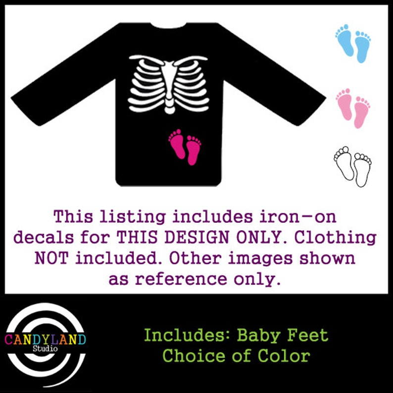 176b7f4e00152 DIY Iron on decals for Pregnant Skeleton Maternity Shirt with   Etsy