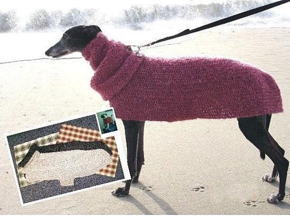 AerieDesigns Quick Easy GREYHOUND Dog SWEATER Crochet Pattern Etsy Mesmerizing Dog Sweater Patterns