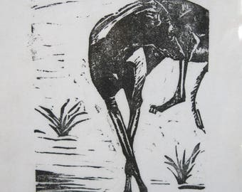 BirdsforBirds Greyhound in Spain #4 Art Block Print Greyhound