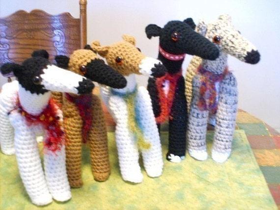 Aeriedesigns Pixie Hounds Greyhound Dog Dolls To Crochet Pdf Etsy