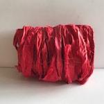 Sari Sari Ribbon - Recycled Sari Silk Ribbon - Red, 10 Yards Journaling Ribbon