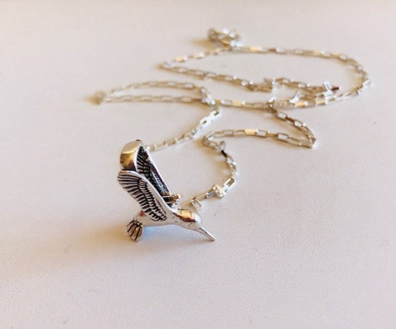 Hummingbird Necklace  Sterling Silver necklace image 0