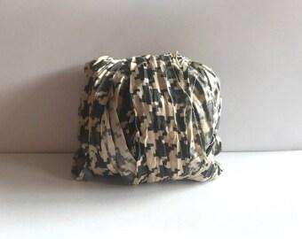 Sari Silk Ribbon - Recycled Silk Sari Ribbon - Houndstooth, 10 Yards Journaling Ribbon