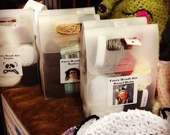 Furry Heads Panda Make It Kit | Etsy