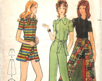 UNCUT Jumpsuit, Romper and Maxi Skirt Bust 34 Butterick 6449 Size 12