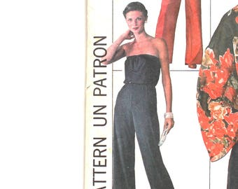 1970's Jiffy Jumpsuit Bust 30.5 Size 6 Simplicity 7748 Vintage Sewing Pattern