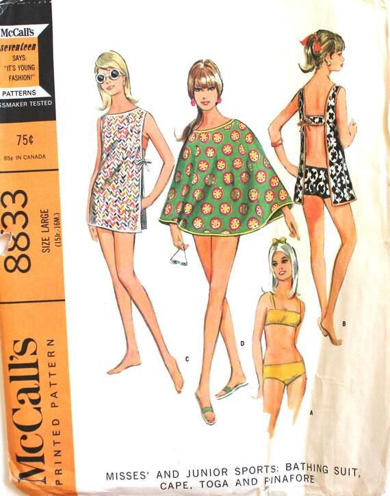 Bikini vertuschen Kap Toga & Pinafore Schnittmuster McCalls | Etsy