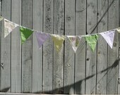 Reusable Triangle Flags Fabric Bunting Garland - Easter, Pastel Hues