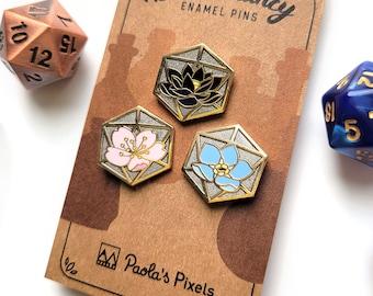Blossomancy Mini Pins Enamel Pin, Dungeons and Dragons Enamel Pin, DnD Alchemist Pin