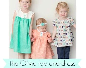 Olivia top and dress PDF pattern