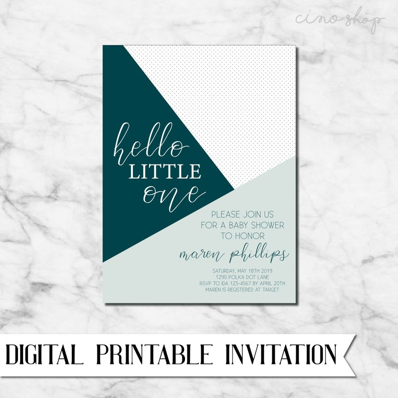 Punch of color & polka dot Baby Shower Digital Printable image 0