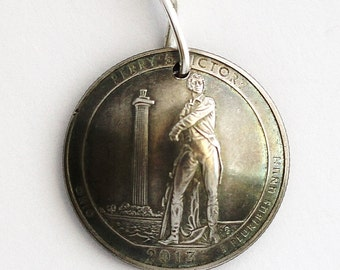 Quarter Coin Keychain, U.S. Quarter Dollar, Ohio, Perry's Victory Park, America the Beautiful, Key Ring, 2013 by Hendywood