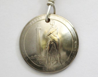 Perry's Victory, Saratoga, Arches, Kisatchie, Blue Ridge Parkway Quarter Coin Keychain, American U.S. Key Ring by Hendywood