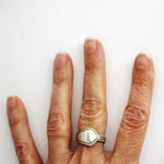 Vintage Spoon Ring, Made in USSR, Melchior Silver Plate Demitasse Spoon Ring, size 6.75, Recycled Russian Silverware Jewelry by Hendywood