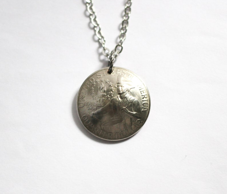 U.S. Bicentennial Quarter Domed American Coin Necklace image 0