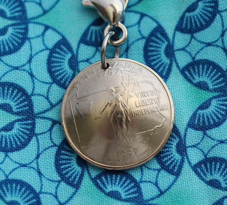 Pennsylvania Quarter Coin Keychain U.S. Quarter Dollar Purse image 0