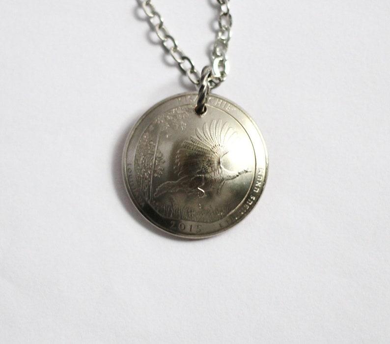 U.S. Quarter Necklace Domed Coin Pendant Kisatchie National image 0