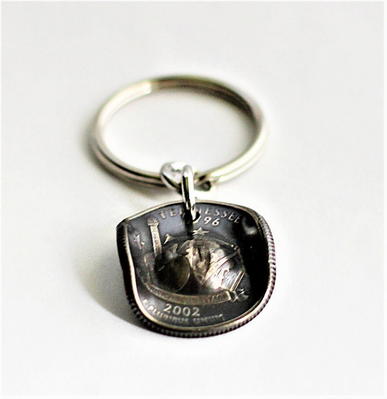 Cowgirl Hat Key Ring Cowboy Hat Keyring U.S. Tennessee State image 0