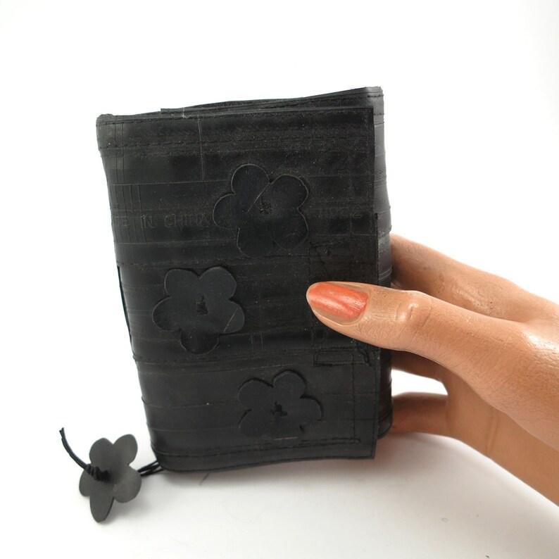 Recycled journal bike inner tube blank pages black felt image 0