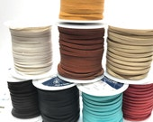 "50 Feet 1/8"" Deer Skin Lace - Your choice of color  Free Shipping USA"