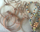 Bead Hoop & Earwire Kits ~ Your choice Ant Copper, Brass or Silver - Free US Shpg