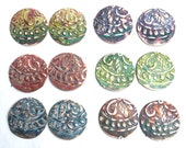 2 PC - Ma'at Goddess Patina and Texture Components - you choose the shape & patina! Free US Shipping