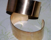 "Brass Cuff 1"" Solid Bracelet 20g Blank Finished or Unfinished  - FREE SHIPPING USA"