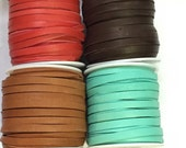 "10 feet 3/16"" Deer Skin Lace - Your choice of color  Free Shipping USA"