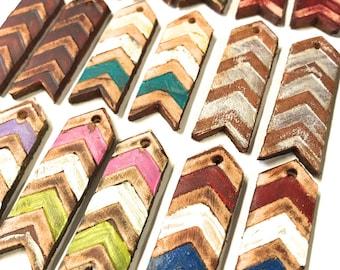 Leather Boho Chevron Arrow Charms