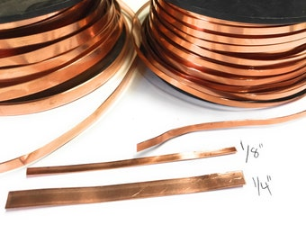 Flat Smooth Solid Copper Strip Wire for Face Mask  - Choose your length Free Shipping USA