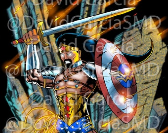 David Garcia AKA Wonder Man Limited Edition Signed & Numbered Cosplay Artwork Print